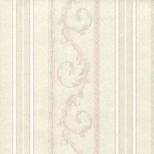 Cream striped swirl wallpaper, cream, textured, Italy, dining room, foyer,