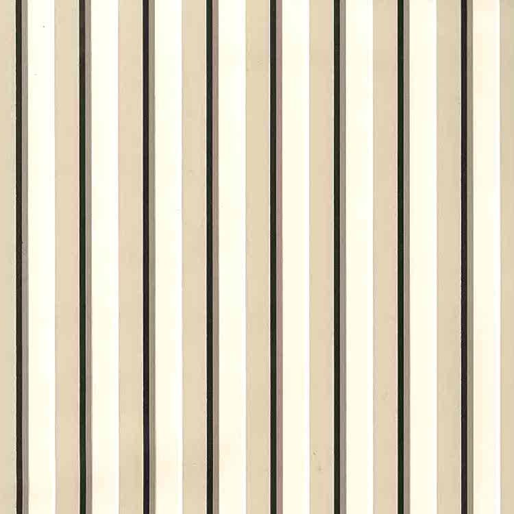 Waverly-taupe-striped-vintage-wallpaper, black, cream, white, cocoa, dining room