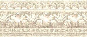 Taupe vintage wallpaper border, textured, glazed, dining room, bedroom, study, egg, feathers