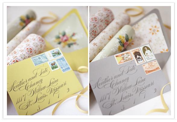 Wedding Day Ideas: Invitation Envelopes using Walllpaper