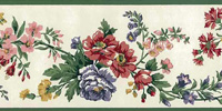 Floral Vintage Wallpaper Border Patterns