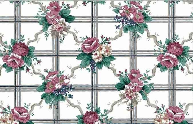 Lattice Waverly Floral Vintage Wallpaper Trellis Pink 558152 Drs