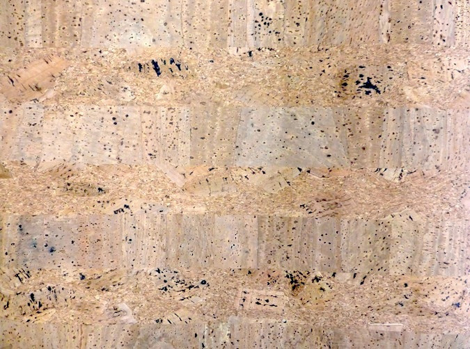 Beige Cork Wallpaper with an Orangy-Pink Tone