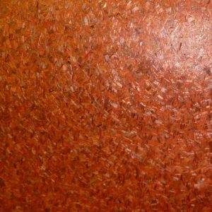 Red Grasscloth Wallpaper with Cork-Like Fibers