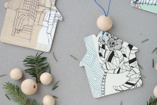 Holiday Gifts: Ornaments using Wallpaper