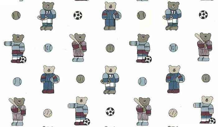 Sports Bear Vintage Wallpaper Soccer Baseball Football Qf3013 D Rs