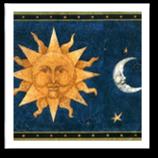 Sky/Planets/Stars Vintage Wallpaper