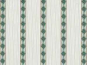 Vintage Diamond Striped Wallpaper in White, Green, & Gold