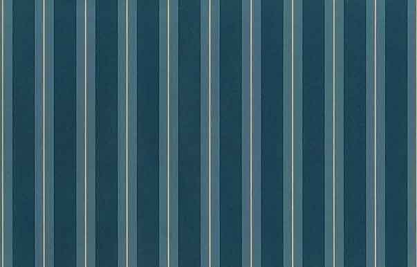 Teal Striped Vintage Wallpaper Blue Green Cream Classic