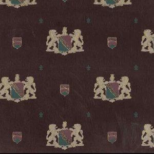 vintage coat of arms wallpaper, Maroon, Gold Glaze