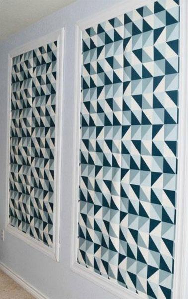 Wallpaper as art panels