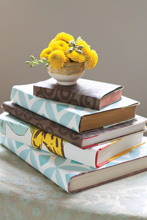Back to School Books covers made from vintage wallpaper